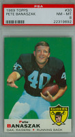 1969 Topps Football 30 Pete Banaszak Oakland Raiders PSA 8 Near Mint to Mint