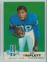 1969 Topps Football 32 Bill Triplett Detroit Lions Excellent to Mint