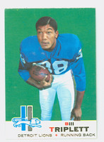 1969 Topps Football 32 Bill Triplett Detroit Lions Near-Mint