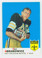1969 Topps Football 36 Dan Abramowicz New Orleans Saints Excellent