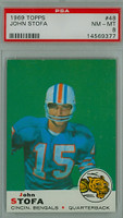 1969 Topps Football 48 John Stofa Cincinnati Bengals PSA 8 Near Mint to Mint