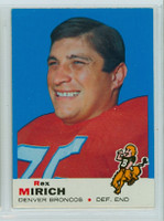 1969 Topps Football 49 Rex Mirich Denver Broncos Near-Mint