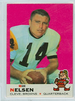 1969 Topps Football 52 Bill Nelsen Cleveland Browns Near-Mint to Mint