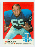 1969 Topps Football 54 Wayne Walker Detroit Lions Excellent to Excellent Plus