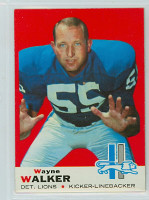 1969 Topps Football 54 Wayne Walker Detroit Lions Near-Mint
