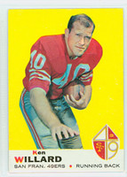 1969 Topps Football 66 Ken Willard San Francisco 49ers Excellent to Mint