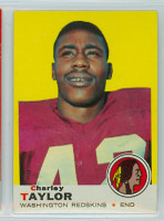 1969 Topps Football 67 Charley Taylor Washington Redskins Excellent to Mint