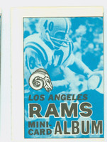 1969 Topps Football 4-1 Booklets 8 Los Angeles Rams Excellent