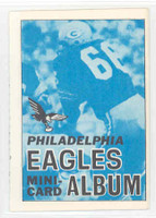 1969 Topps Football 4-1 Booklets 12 Philadelphia Eagles Excellent to Mint
