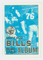 1969 Topps Football 4-1 Booklets 18 Buffalo Bills Excellent to Mint