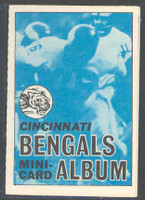 1969 Topps Football 4-1 Booklets 19 Cincinnati Bengals Near-Mint