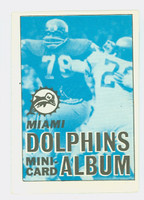 1969 Topps Football 4-1 Booklets 23 Miami Dolphins Excellent to Mint