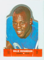1968 Topps Football Stand Up 20 Willie Richardson Baltimore Colts Punched