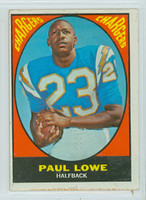 1967 Topps Win a Card Football 121 Paul Lowe San Diego Chargers Very Good