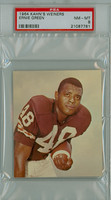 1964 Kahn Weiners Football 15 Ernie Green Cleveland Browns PSA 8 Near Mint to Mint