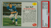 1962 Post Football 20 Sam Huff New York Giants PSA 9 Mint