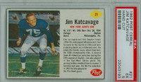1962 Post Football 21 Jim Katcavage New York Giants PSA 5 Excellent