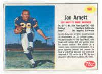 1962 Post Football 160 Jon Arnett Los Angeles Rams Very Good to Excellent