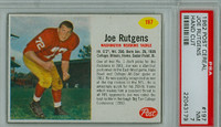 1962 Post Football 197 Joe Rutgens Washington Redskins PSA 7 Near Mint