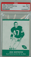 1961 Lake To Lake Packers 11 Jesse  Whittenton Green Bay Packers PSA 8 Near Mint to Mint