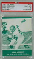 1961 Lake To Lake Packers 30 Herb Adderley Green Bay Packers PSA 8 Near Mint to Mint