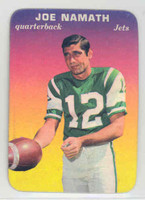 1970 Glossy Football 29 Joe Namath New York Jets Near-Mint