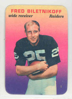 1970 Glossy Football 32 Fred Biletnikoff Oakland Raiders Very Good to Excellent