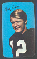 1970 Topps Football Supers 10 Greg Cook Cincinnati Bengals Near-Mint to Mint