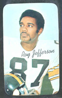 1970 Topps Football Supers 16 Roy Jefferson Pittsburgh Steelers Near-Mint Plus