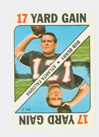 1971 Topps Football Game 2 Bob Berry Atlanta Falcons Excellent to Mint