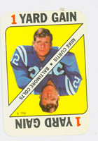 1971 Topps Football Game 4 Mike Curtis Baltimore Colts Excellent
