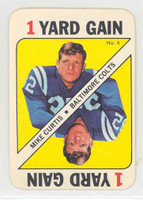 1971 Topps Football Game 4 Mike Curtis Baltimore Colts Near-Mint