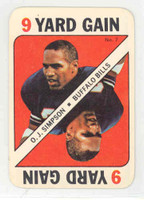 1971 Topps Football Game 7 OJ Simpson Buffalo Bills Near-Mint