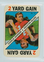 1971 Topps Football Game 24 Charlie Johnson Houston Oilers Near-Mint