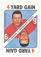 1971 Topps Football Game 25 Len Dawson Kansas City Chiefs Near-Mint