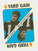1971 Topps Football Game 34 Tom Dempsey New Orleans Saints Excellent