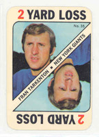 1971 Topps Football Game 35 Fran Tarkenton Minnesota Vikings Excellent