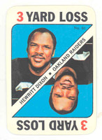 1971 Topps Football Game 40 Hewitt Dixon Oakland Raiders Near-Mint to Mint