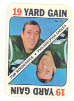 1971 Topps Football Game 41 Tom Woodeshick Philadelphia Eagles Near-Mint to Mint