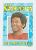 1971 Topps Football Pin-Ups 1 Gene Washington San Francisco 49ers Near-Mint