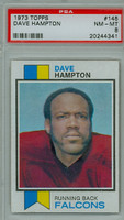 1973 Topps Football 145 Dave Hampton ROOKIE Atlanta Falcons PSA 8 Near Mint to Mint
