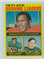 1972 Topps Football 1 AFC Rushing leaders Excellent to Excellent Plus