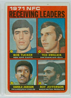 1972 Topps Football 6 NFC Receiving leaders Excellent to Mint