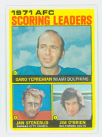 1972 Topps Football 7 AFC Scoring leaders Near-Mint