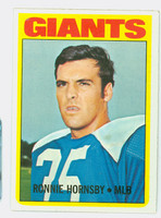 1972 Topps Football 16 Ron Hornsby New York Giants Near-Mint Plus