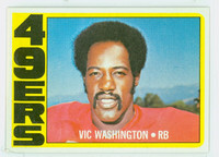 1972 Topps Football 22 Vic Washington ROOKIE San Francisco 49ers Near-Mint