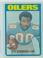 1972 Topps Football 26 Ken Burroughs ROOKIE Houston Oilers Excellent