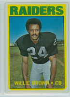 1972 Topps Football 28 Willie Brown Oakland Raiders Excellent to Mint