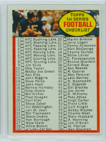 1972 Topps Football 29 Checklist 1-132 Excellent