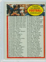 1972 Topps Football 29 Checklist 1-132 Excellent to Excellent Plus